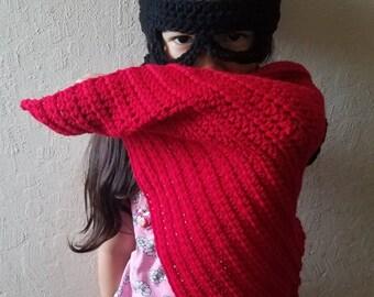 Crochet Superhero Cape and Mask, Crochet Cape, Superhero Cape, Cape, Custom Cape, Cape for Kids, Childs Superhero Cape