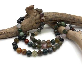 25 beads Agate Indian 8 mm - Pierre of gemstone - semi precious stone - A091