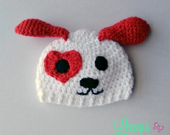 Puppy Beanie in Any Size or Color / Valentine's Day Hat