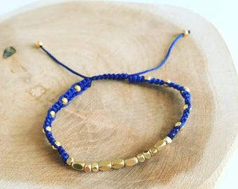 "Bracelet Shamballa Morse ""Blue Love"""
