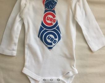 Chicago Cubs Tie Onesie