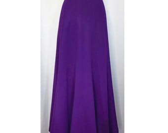 Purple 50s Maxi Skirt