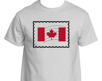 Canada Flag Postage Stamp T-SHIRT.  Show your patriotism with this t-shirt.