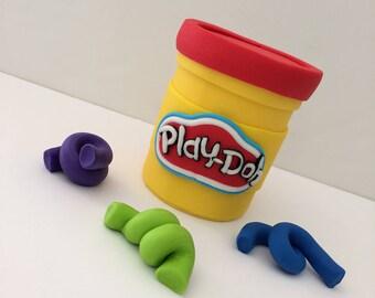 Play-Doh Fondant Cake Topper
