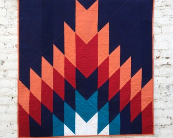 Phoenix Throw Quilt | Modern Throw Quilt | Patchwork Quilt