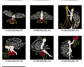 Christmas-Angels  ( 10 Machine Embroidery Designs from ATW )