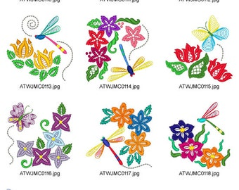 Butterflies-and-Dragonflies. ( 10 Machine Embroidery Designs from ATW ) ev16