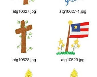 American-Memorial ( 14 Machine Embroidery Designs from ATW ) XYZ17D