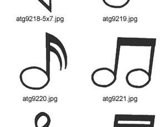 Applique-Music ( 10 Machine Embroidery Designs from ATW )  XYZ17E