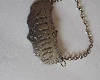 "stieff Pewter ""Sherry"" Decanter Tag/Identifier"