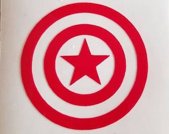 Captain America - permanent vinyl - perfect for Yeti & Rtic cups, coolers etc. Decal only. . Mancave decor.
