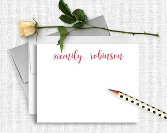 Personalized Stationery, Personalized Stationary, Personalized Note Cards, Thank You Note Cards,  Stationery Set, Custom Stationery CS11