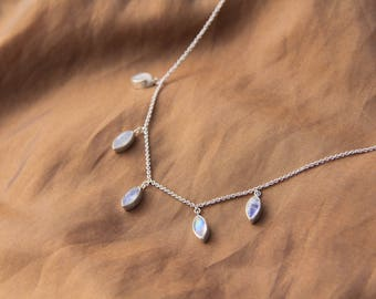 Unity necklace: Moonstone Necklace, Delicate necklace, Precious stone necklace, Bohemian necklace, Gypsy necklace, Sunsara Jewellery