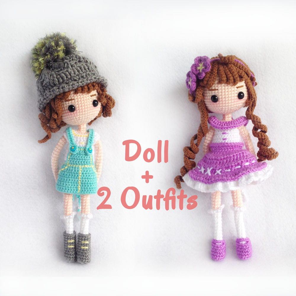 Crochet Doll Pattern / Amigurumi Doll Pattern / Mimi Doll