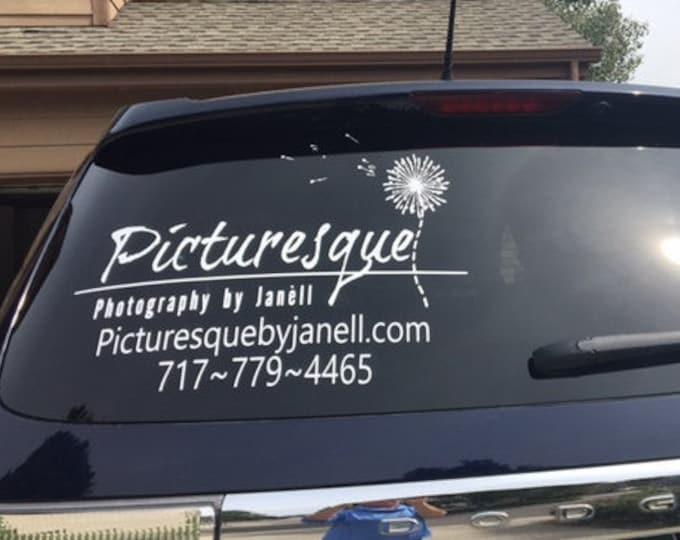 Vehicle Decals Unique Graphics  Vinyl Design - Business car window sticker
