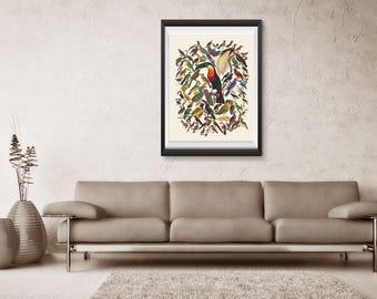 Birds Print, Animal Poster, Art Poster, poster wall art, Office Decor, Home Decor Print BSQ3