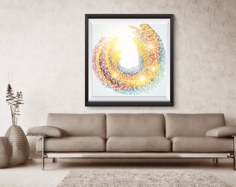 Growth Ring abstract Print, Annual Rings color Print, Art Print, Tree Growth Ring/Annual Rings abstract Art Print, NLSP3