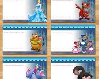 Cinderella Food Tents - Chalkboard - Cinderella Food Labels - Disney Princess Favors - Princess Cinderella Printables - Cinderella Party