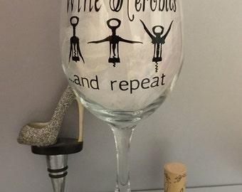 Funny Wine Glass 20 oz - Wine Aerobics