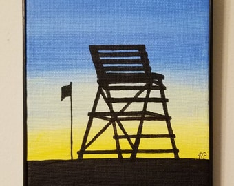 Lifeguard Chair at Wildwood, NJ 5x7
