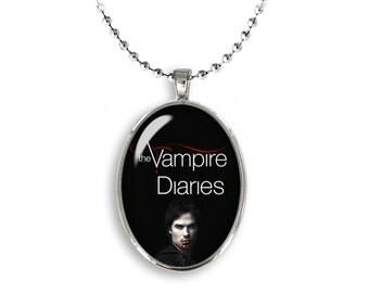 Damon Salvatore Oval Pendant Vampire Diaries Necklace Ian Somerhalder Vampires Fangirl Fanboy