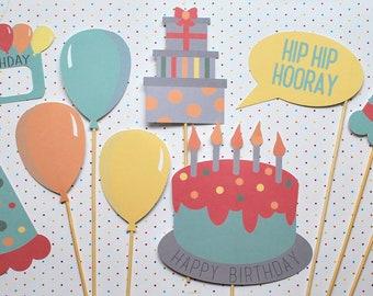 Happy Birthday Photo Booth Props!