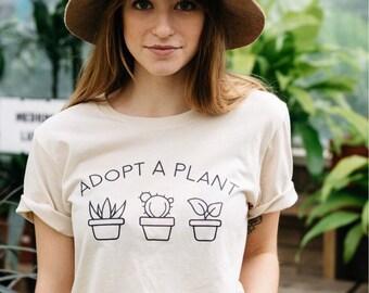 Plant Lady Shirt, Cactus Shirt, Adopt a Plant Shirt, Plant Lady, Plant Shirt, Crazy Plant Lady, Adopt a Plant, Cactus, Succulent Shirt