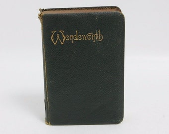 1892 Leather Bound Edition of Wordsworth's Poetical Works