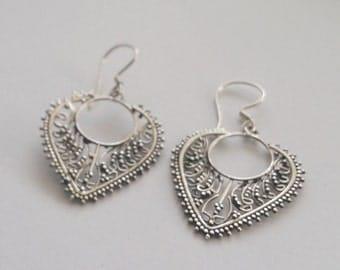 Sterling SIlver Earrings with Oriental Look Veronica, Silver Earrings, Oriental Earrings, Dangle Earrings, Beautiful Earrings, Gift Idea