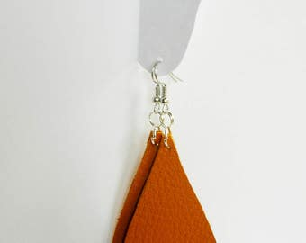 Leather earrings-Boho jewelry-long earrings-tough earrings