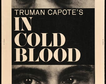"""In Cold Blood (1967) Original 30"""" x 40"""" Movie Poster"""