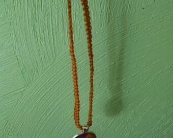 Sun and Moon hemp cord necklace