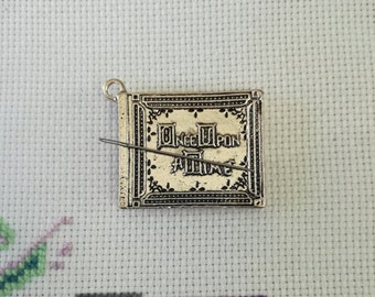 Once Upon a Time Storybook Needleminder / Once Upon a Time Needleminder / Silver Book Needleminder / Storybook Needleminder