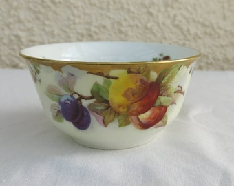 Vintage Hand Painted Fine Bone China Sugar Basin