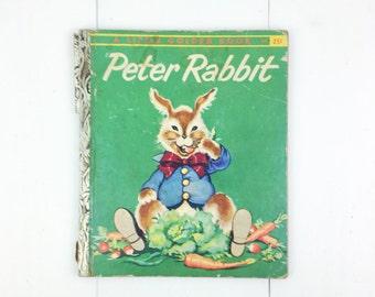 Vintage 1958 Peter Rabbit Little Golden Children's Book