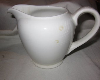 Arabia white creamer - made in Finland