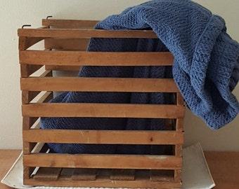 Large Wooden Rustic Basket~Vintage Slat Crate~Vintage Farm Crate~Vintage Large Basket~Farmhouse Decor~Chicken Crate~Antique Basket
