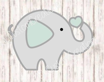 Baby Elephant Animal SVG, DXF, EPS, Png File, For Silhouette, Cricut, Vector
