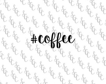 Reusable Stencil - #coffee - Many Sizes to Choose from!