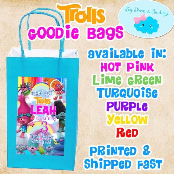 Trolls Paper Goodie Bags