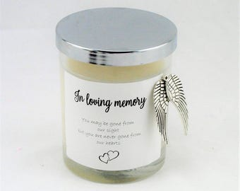Sympathy Gift, Remembrance Gifts, Memorial Gift, In Loving Memory, Personalized Candle, Bereavement Gifts, Scented Candle, Loss of Mother