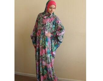 Multicolor Prayer dress, Farasha Caftan, Khimar dress, Muslim dress, Plus Size dress,abaya Maxi Dress,Modern hijab, Burqa, Namaz salat dress