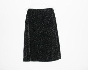 Velvet pencil skirt | Etsy