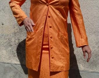 whole dress coat silk luxury 90 s JEAN LOUIS SCHERRER shop size 38/40