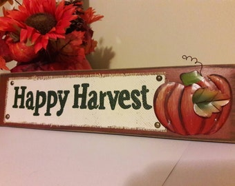 Harvest Sign, Harvest Wall Décor, Harvest Decorations, Thanksgiving Sign, Fall Wall Hanging, Harvest Décor, Happy Harvest Wall Décor