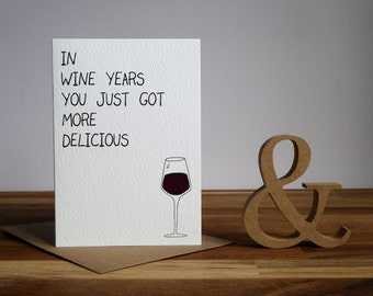 Birthday Greetings Card for Wine Lovers