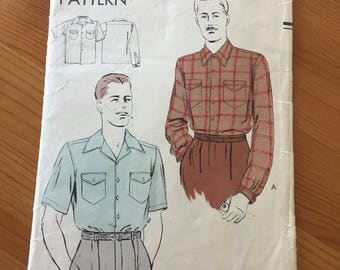 Vogue man's shirt pattern ca1950