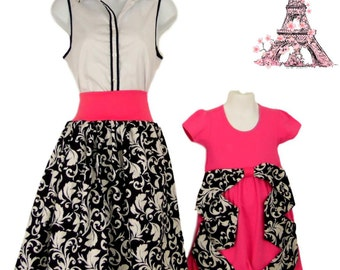 Mother Daughter Matching outfits. Mommy and me fashion girls clothes baby girl dress