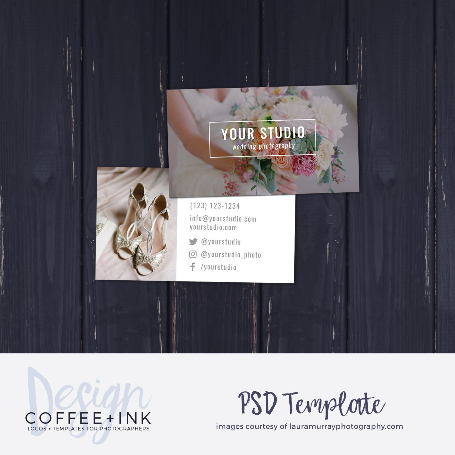 Photography Business Card Template Wedding Photography