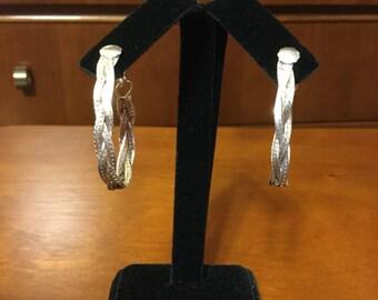 Sterling Silver woven earrings